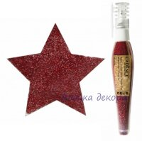Глиттер-пудра в ручке-флаконе Cadence Glitter Powder Pen цвет красный, 10 гр