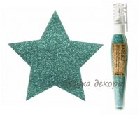 Глиттер-пудра в ручке-флаконе Cadence Glitter Powder Pen цвет Бирюзовый, 10 гр