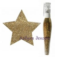 Глиттер-пудра в ручке-флаконе Cadence Glitter Powder Pen цвет золотой, 10 гр