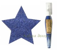 Глиттер-пудра в ручке-флаконе Cadence Glitter Powder Pen цвет Синий, 10 гр